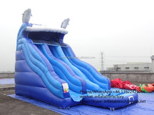 PK160329125 Castle Type and 0.55mmPVC tarpaulin PVC Material inflatable water slide pool