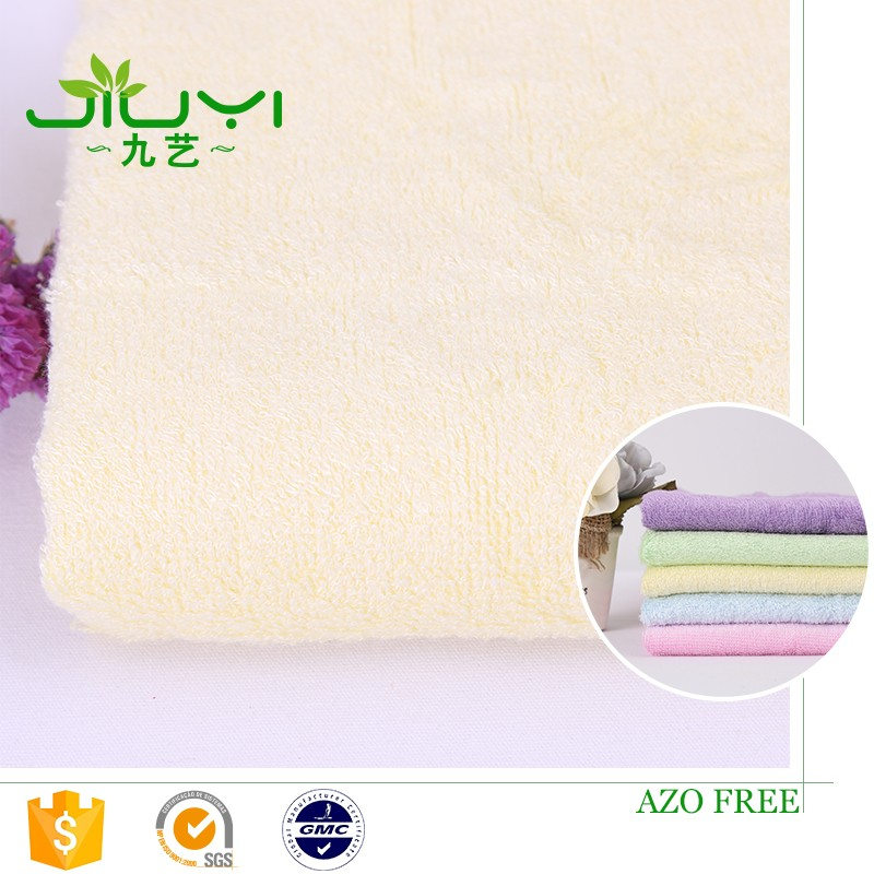 High Quality Woven Bamboo Fiber Towel Light Blue Baby French Terry