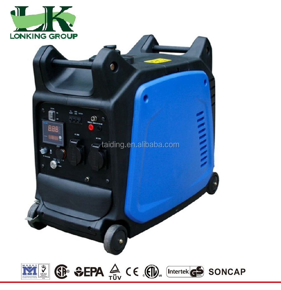 cheap 3000w petrol generator price ,electric inverter generator with LCD,USB