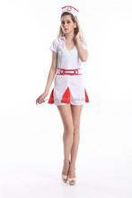 Ladies Sexy Nurse Fancy Dress Costume Adult roupa mulheres partido tamanho S-3XL