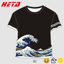 T-shirt interlock printed Wholesale sports wear fabric using heat transfer printing fabric men's t shirt