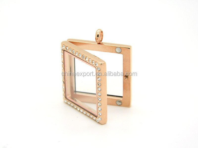 Floating Charm glass locket square