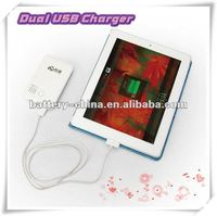 HOT 5000mAh Dual USB Portable Mobile Phone Charger Station for iPhone