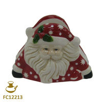 FC12213 ceramic christmas napkin holder