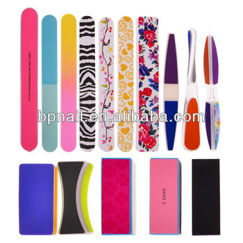 Colorful nail file block and buffer