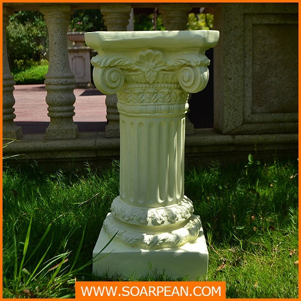 Stable Flower Designed Fiberglass Column