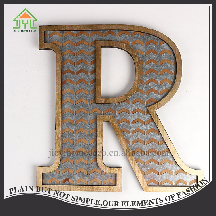 Chinese nice design brown request letter R for decoration