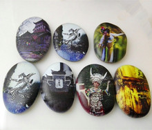 Home Decorative Hand Painted Sculptures Custom Made Hand-drawn Patterns on Pebble Stone