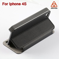 New arrival custom made mobile phone pu leather case wallet for iphone 4s