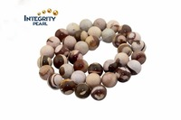 12mm 14mm 10mm Natural stone loose beads beaded zebra Round Agate Crystal semi-finished products
