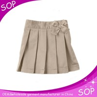 Girls ruffled skirt international school uniform
