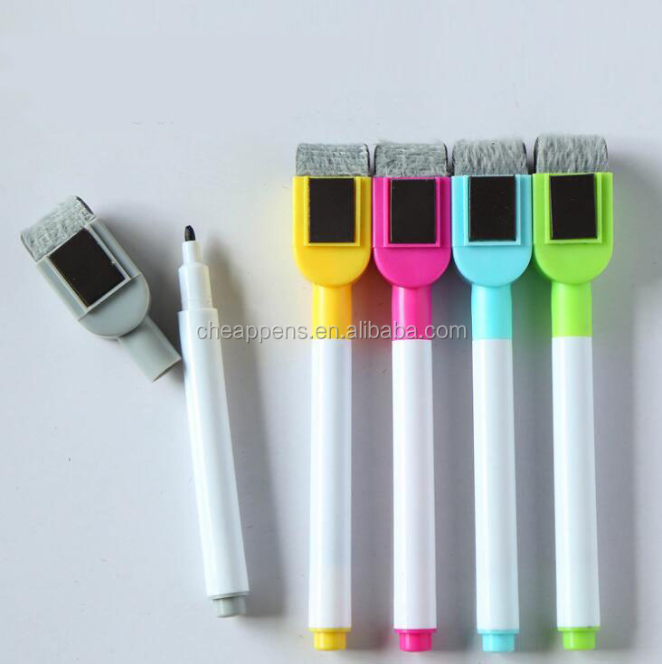 Customized logo magnetic whiteboard marker with eraser