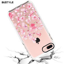 The Latest Design Custom Pring Soft TPU and Hard PC Clear Phone Case for iPhone 6 7 8 Case 4.7 and 5.5 inch Back Cover Case