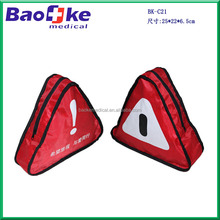 BK-C21 Emergency Warning Triangular Car First Aid Kit Pouch with Medical Equipments