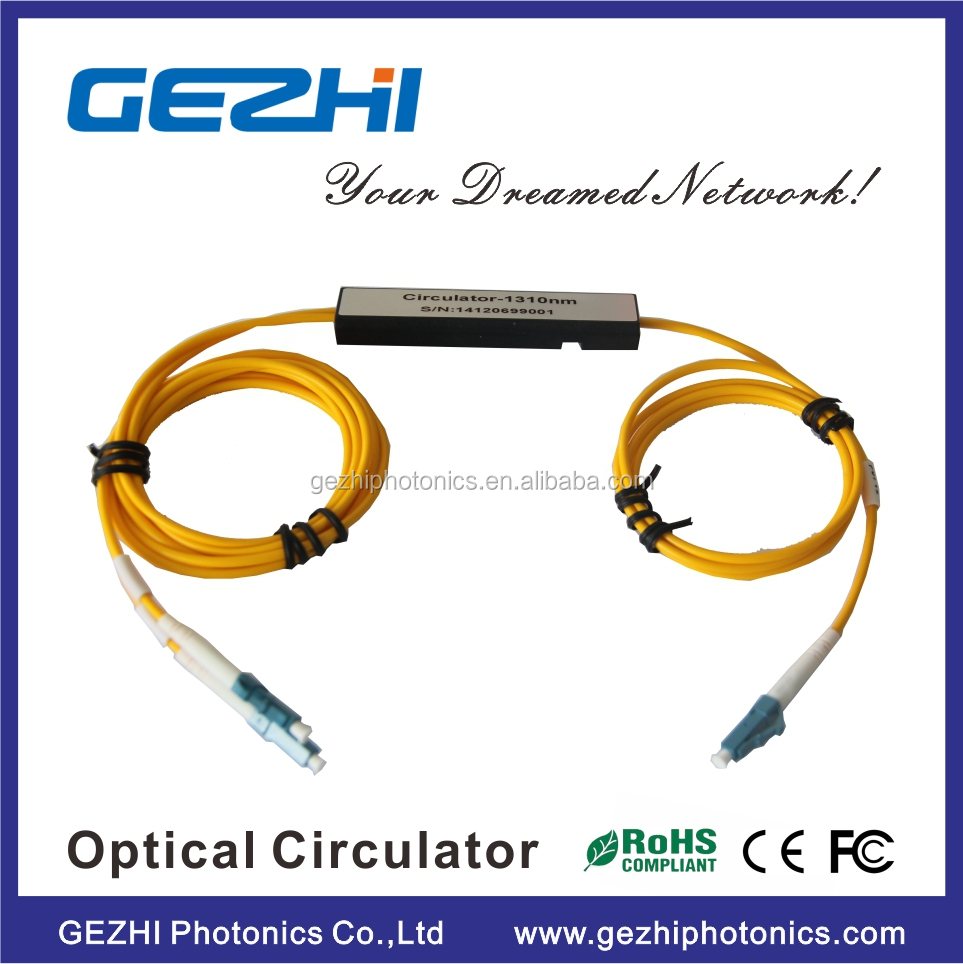 Nice price 1X2 port 1550nm optical fiber circulator for Metro Area Network