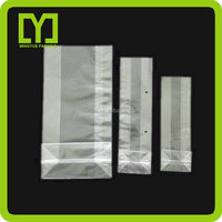 2015 New High Quality Cheap Square Bottom Clear Plastic Bags