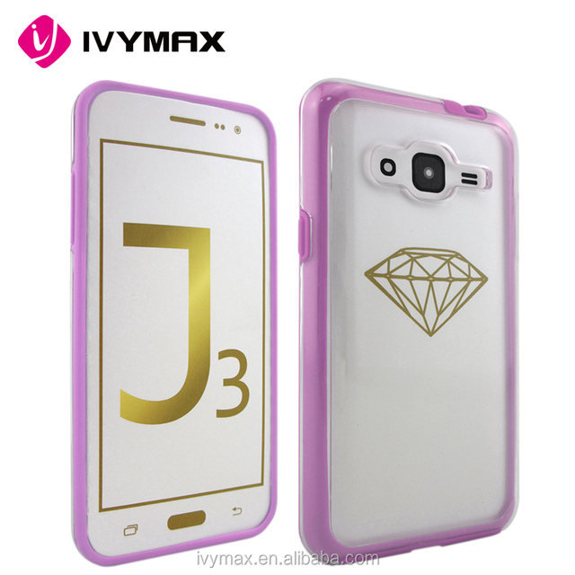 IVYMAX hot selling hard back plastic PC+Tpu crystal clear hard phone case For Samsung Galaxy J3/J320P/J320F