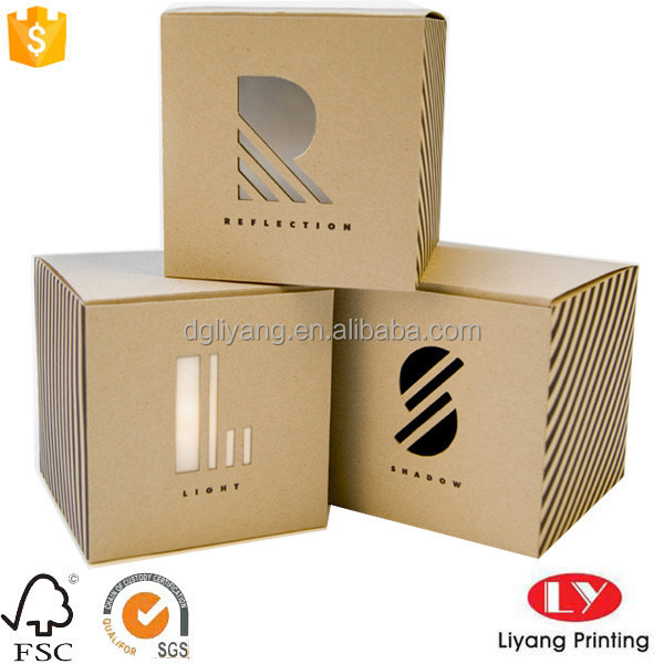 food grade small brown Kraft paper packaging boxes for cookie