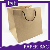 Recycled Brown Kraft Paper Bag with Cotton Rope
