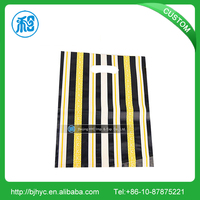 HDPE/LDPE fashional plastic die cut punch handle bag for shoes/clothing packing apparel clothing shops/garment store