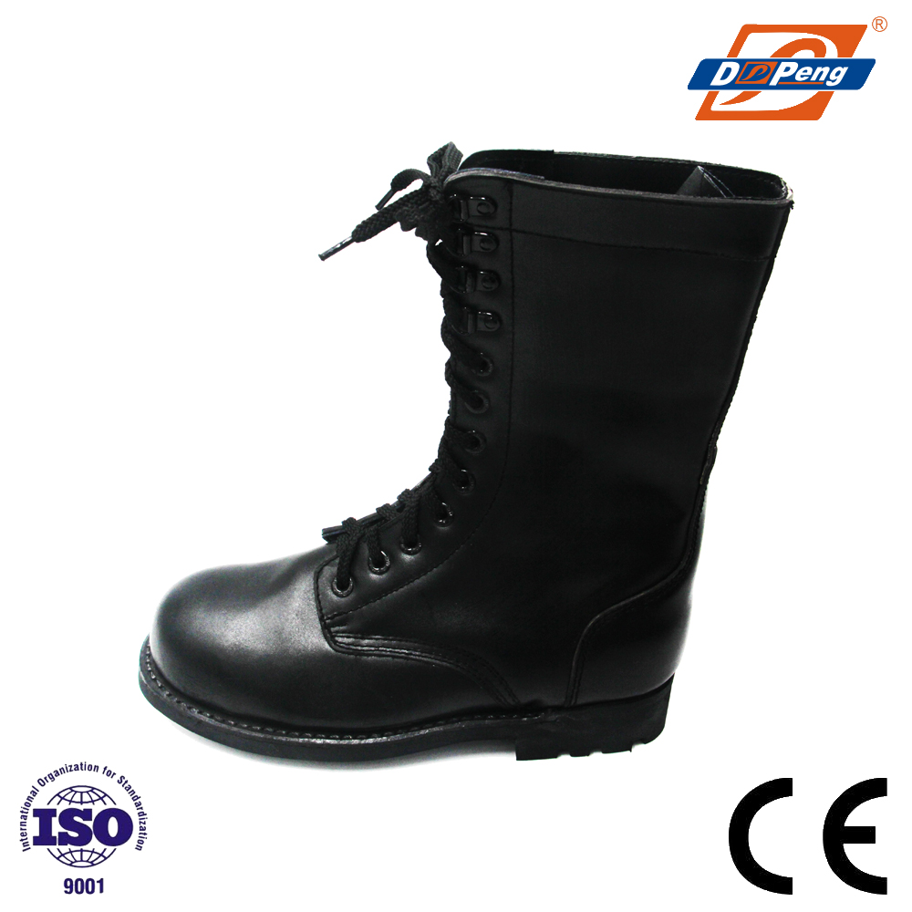 Fashion genuine leather Military Safety Boots with welt rubber sole