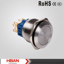 Stainless steel ,Momentary ,Latching Flat head , metal push button switch (22mm)