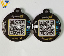 NFC chip pets tag with black qr code