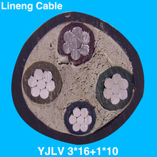 Lineng YJLV 3*16+1*10 Low Voltage 4 Core Aluminum Electrical Power Cable