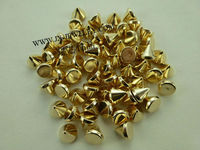 2013 Fashion Color KC Gold Plated Plastic Cone Spike Beads more color and type for choose