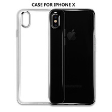 2018 best selling cellphone Transparent Back Case For iphone X 10, Crystal Clear Soft TPU mobile Phone Case For iphone X