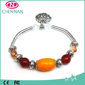 New Arrival stainless Chain rugby shape crystal beads bracelets
