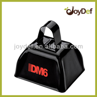 Most Popular 3 Inch Black Metallic Costume Accessory Cow Bell Cowbells