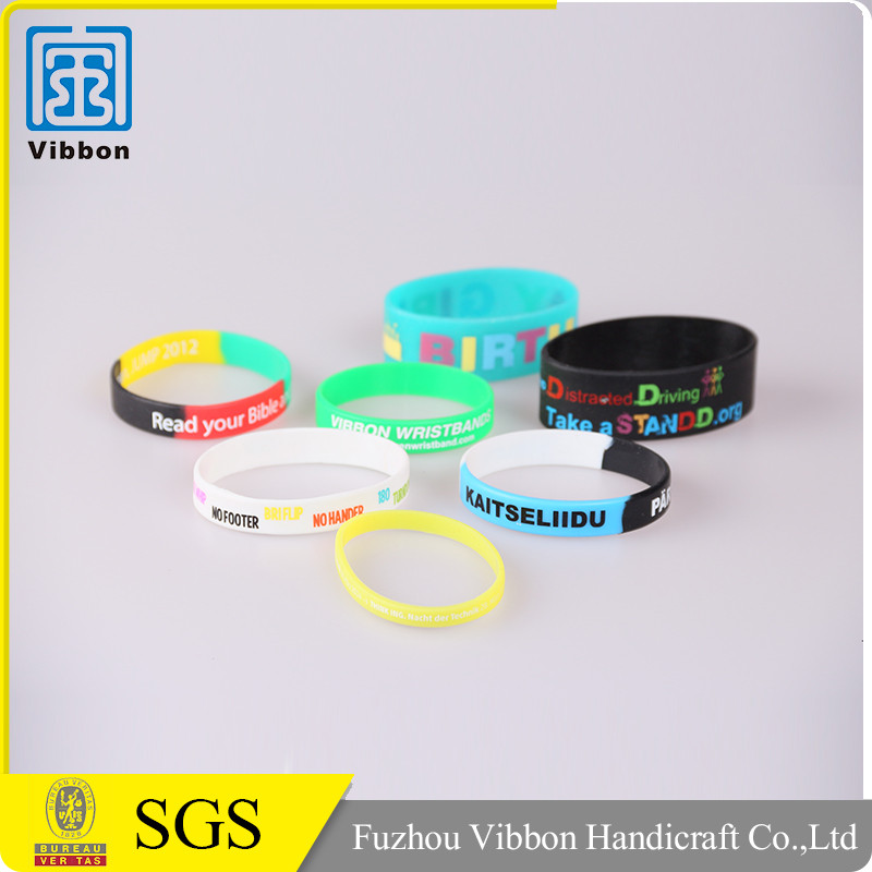 Custom adjustable embossed silicon wristband