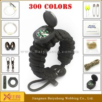 wholesale paracord survival watch custom army bracelets rope bangle bracelet