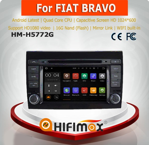 Hifimax Android 5.1 car dvd for Fiat bravo dvd gps for fiat bravo car audio with wifi mirror link DAB
