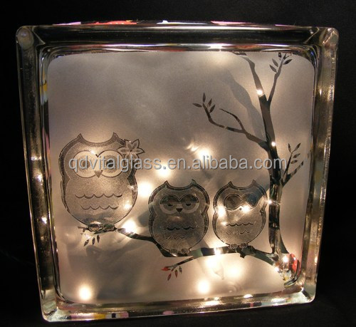 Antique Decorative Glass Block With Hole