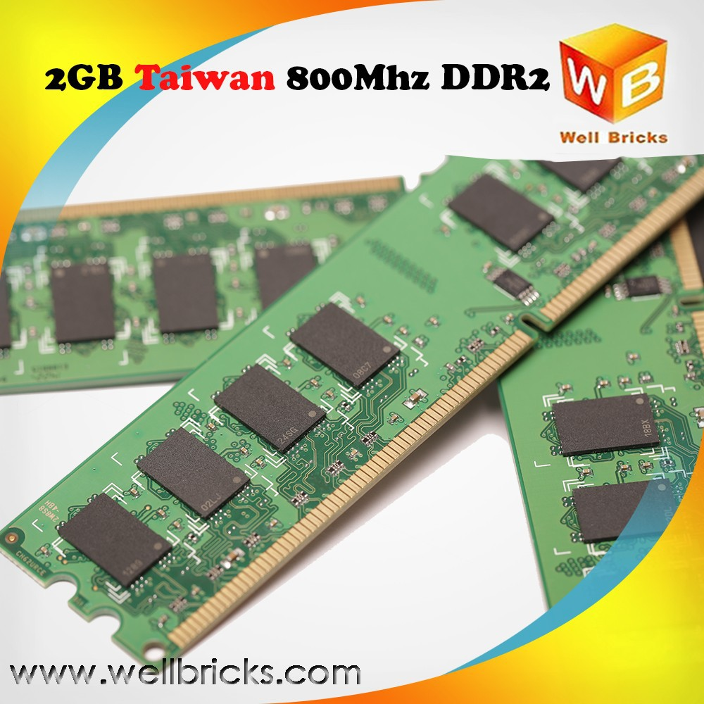 Taiwan Accepted paypal good warranty ram ddr2 2g 800mhz pc2-6400 memory