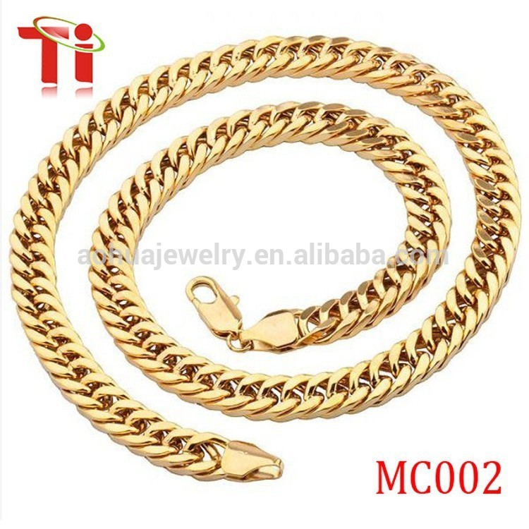 Dongguan Aohua Jewelry XSS437 14k gold lobster clasp manufacturers stainless steel chain Fashion necklace designs in 10 grams