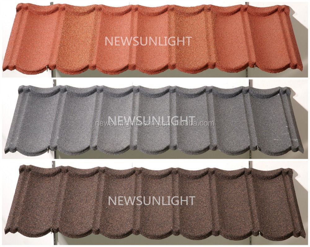 Metrotile Roofing Systerm /Stone Coated Steel Roof Tile with high quality