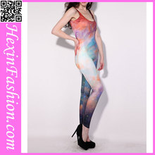 Comercio al por mayor galaxy woman bodycon buzos