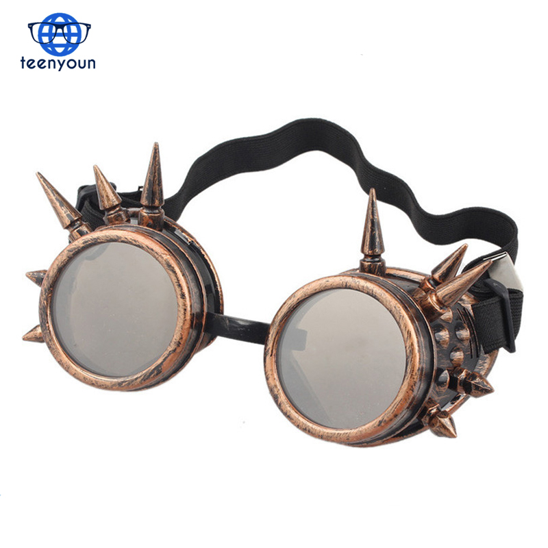 Durable 2017 goggles frame sunglasses women men Rivet Steampunk goggle Glasse Windproof for oculos Mirror Vintage Gothic Glasses