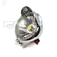 BJ-HL-009 New arrival chrome angel eye fog dirt bike motorcycle universal vision headlight