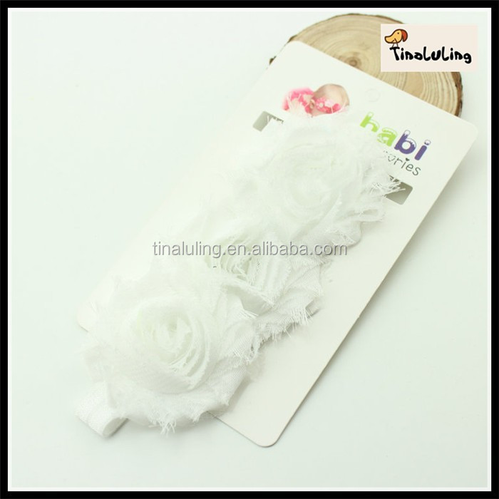 new fashion artifical flower with elastic band baby hair accessories chiffon flower headband