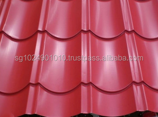 beautiful color coated steel sheet metal roofing steel sheet