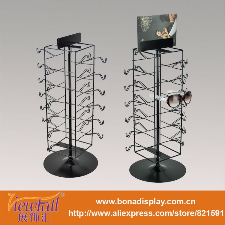 rotating multilayer sunglasses display stand