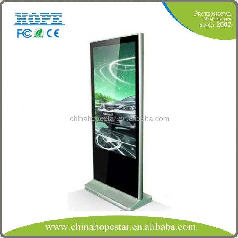 Big 42 inch ad display screen stands manufacturer for digital signage kiosk