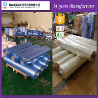 PVC sleeve shrink film , plastic transparent film roll with 1500mm