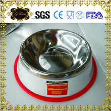 Factory Cheap Wholesale Lovely Stainless Steel Dog Bowl Pet Food Bowl