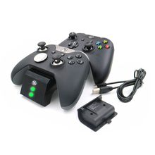 YCCTEAM Dual Charger Charging Dock for Xbox One Slim/Xbox one Elite/ Xbox one Controller With 2 x 600mAh Rechargeable