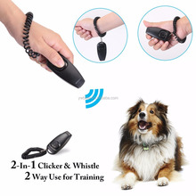2 in 1 Dog Training Clicker Whistle with Wrist Band